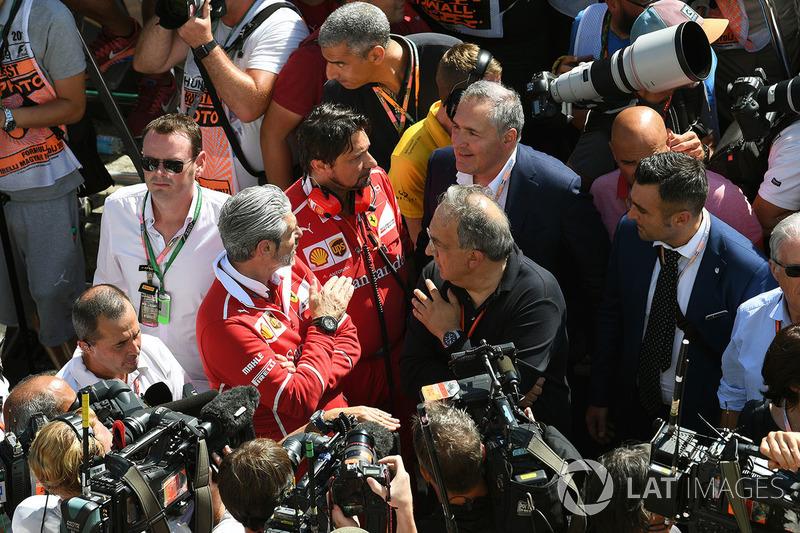 Maurizio Arrivabene, Director de Ferrari Team y Sergio Marchionne, CEO FIAT
