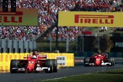 Race winner Sebastian Vettel, Ferrari SF70-H, second place Kimi Raikkonen, Ferrari SF70-H