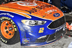 The car of Brad Keselowski, Team Penske Ford in Victory Lane