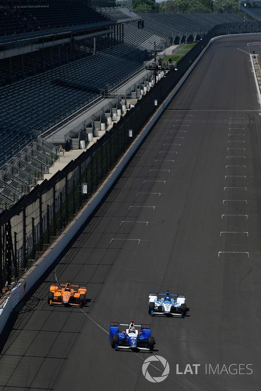 Takuma Sato, Andretti Autosport Honda, Fernando Alonso, Andretti Autosport Honda, Marco Andretti, An