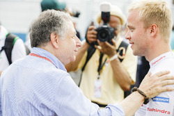 Jean Todt and Felix Rosenqvist, Mahindra Racing