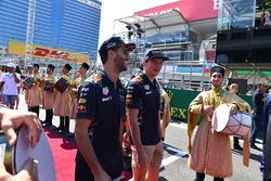 Daniel Ricciardo, Red Bull Racing and Max Verstappen, Red Bull Racing on the drivers parade