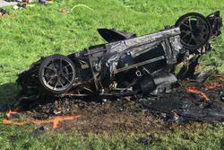 Crashed Rimac Concept One driven by Richard Hammond