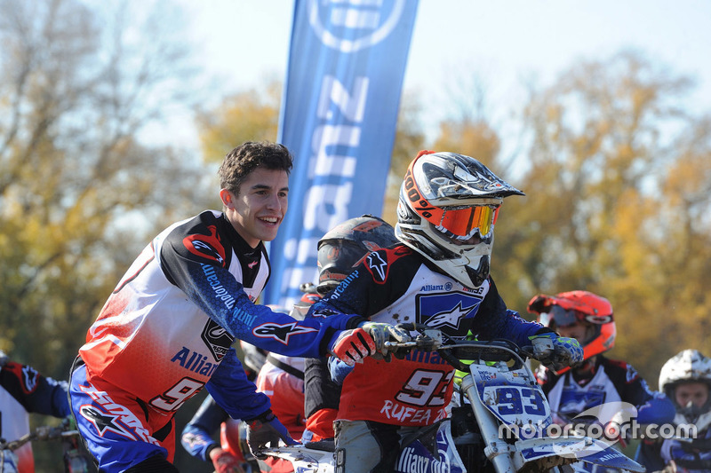 Marc Marquez with participant