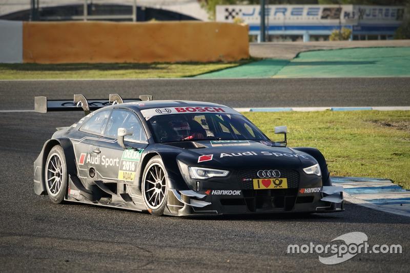 Loic Duval, Audi RS 5 DTM coche de prueba