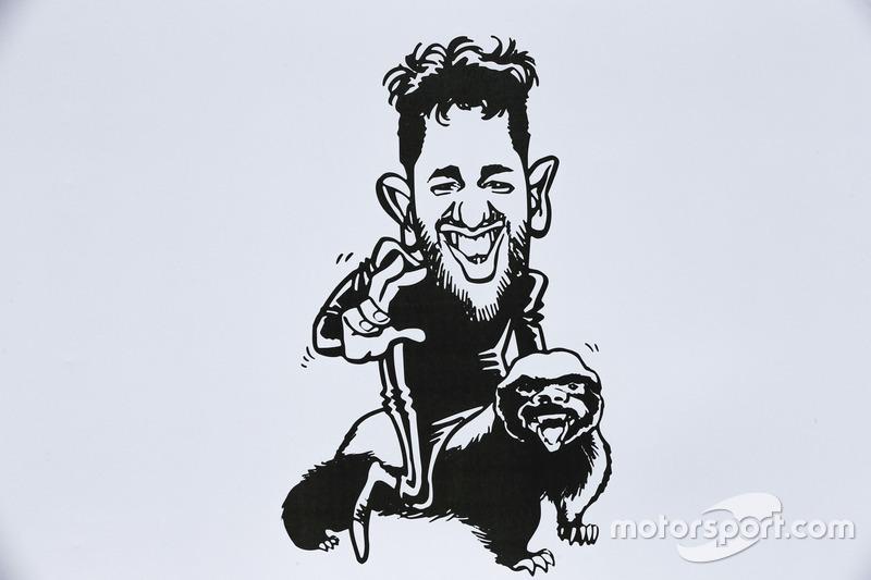 Шарж на пилота Red Bull Racing Даниэля Риккардо