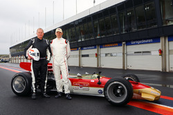 Martin Brundle and Adrian Newey with the Lotus 49B