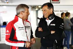 Michael Steiner, Member of the Executive Board Research and Development Porsche AG, Fritz Enzinger, Head of Porsche LMP1 program