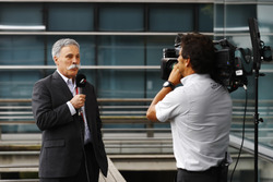Chase Carey, Vorstand Formula One Group, beim Interview