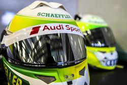 Il casco di Mike Rockenfeller, Audi Sport Team Phoenix, Audi RS 5 DTM
