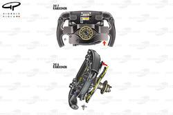 Räikkönen's steering wheel comparison