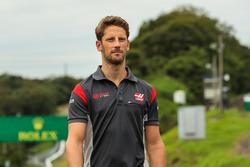 Romain Grosjean, Haas F1 Team lors de la reconnaissance de piste