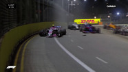 GP de Singapour : L'accident d'Ocon