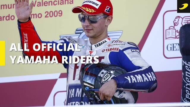 All official Yamaha Factory Racing riders