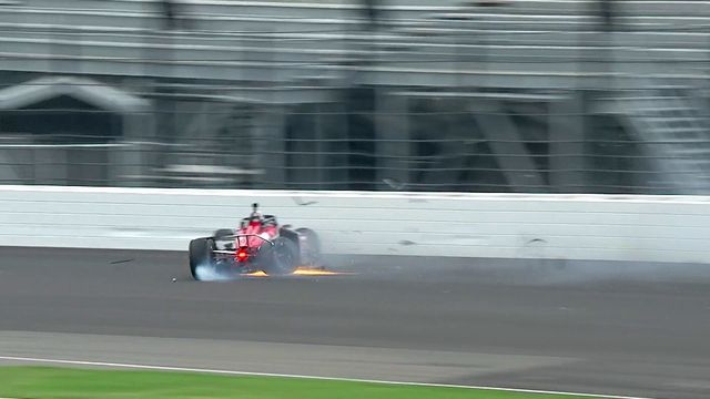 Rinus VeeKay crashes during Indy 500 test