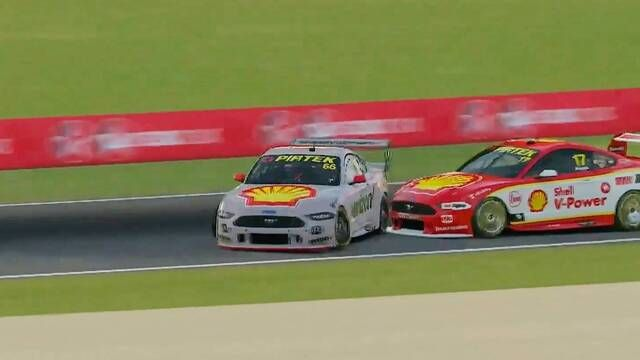 Supercars All Stars Eseries - Mount Panorama Race 1 Will Power crash