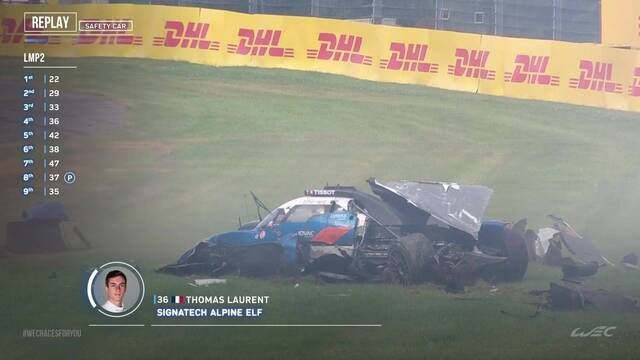 Le crash de Thomas Laurent aux 6 Heures de Spa