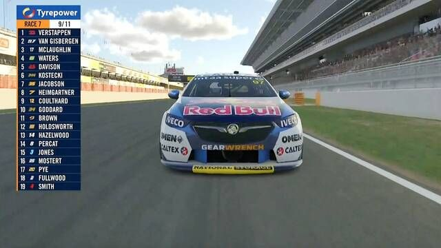 Supercars All Stars Eseries: Gisbergen and Verstappen battle