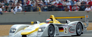 Le Mans Audi fighting punctures at Le Mans