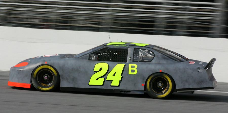 Jeff Gordon out front at Daytona testing