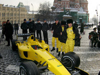 Jordan launches in Moscow's Red Square