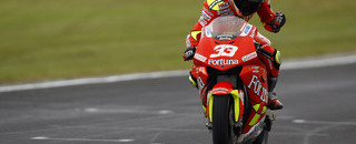 MotoGP Melandri takes Australian GP win in the rain