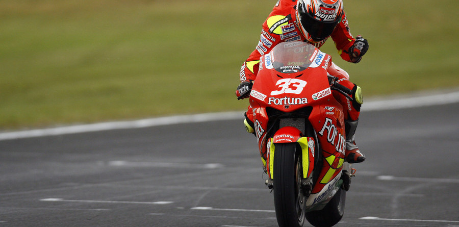 Melandri takes Australian GP win in the rain