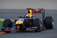 Valencia kicks off pre-season testing, Vettel on top