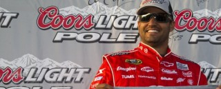 NASCAR Cup Montoya claims the pole in California