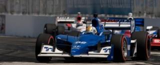 IndyCar Newman/Haas Racing signs James Hinchcliffe