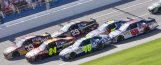 NASCAR Cup Johnson gets close win at Talladega