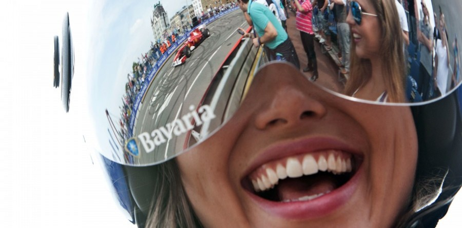 Burning rubber at Bavaria City Racing event in Rotterdam