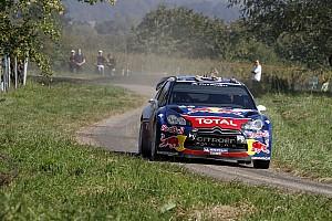 WRC Sebastien Ogier and Citroen celebrate Rallye de France victory