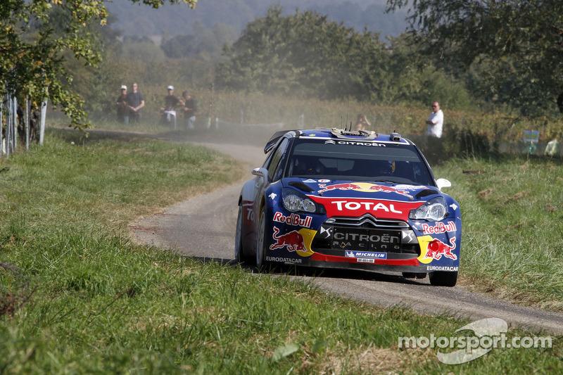 Sebastien Ogier and Citroen celebrate Rallye de France victory