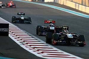 Formula 1 Lotus Renault Abu Dhabi GP race report