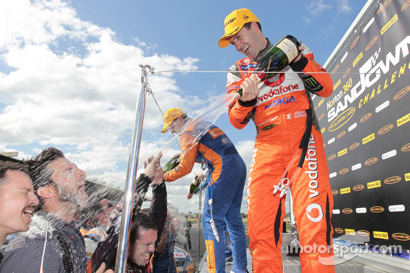 Whincup takes lights to flag victory in race two at Sandown