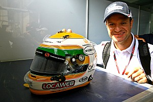 Formula 1 Barrichello reveals helmet design for 2012 season