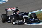 Williams Jerez test day 1 report
