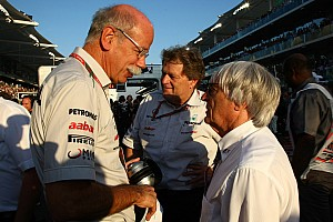 Formula 1 Ecclestone confirms Concorde row with Mercedes