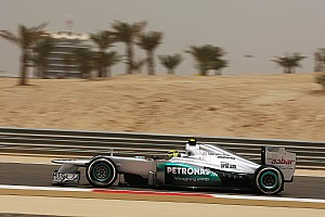 Formula 1 Rosberg sets fastest lap time on dusty Friday in Bahrain
