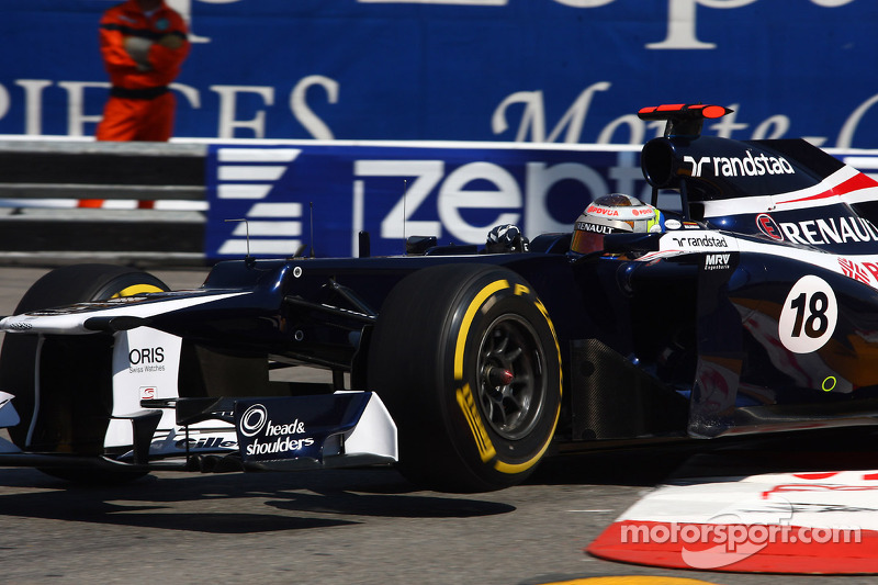 Maldonado penalty sets Williams to middle of Monaco grid