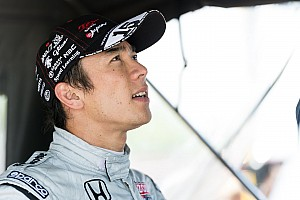 IndyCar Sato sailing before Belle Isle crash