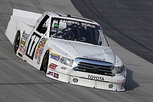 NASCAR Truck Race report Restarts pay off handsomely for Toyota drivers at Iowa