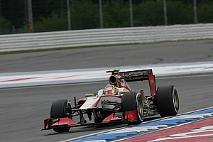Formula 1 Practice report HRT drivers face mixed weather conditions at Hockenheimring