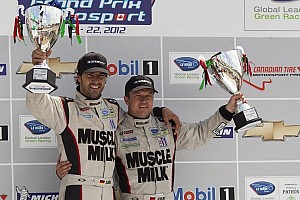ALMS Race report Luhr and Graf celebrate win in Mosport; tight GT battle on final laps