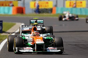 Formula 1 Race report Force India teammates just missed out on points in Hungarian GP