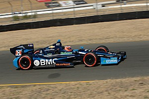IndyCar Qualifying report Barrichello top qualifier for KV Racing at Sonoma