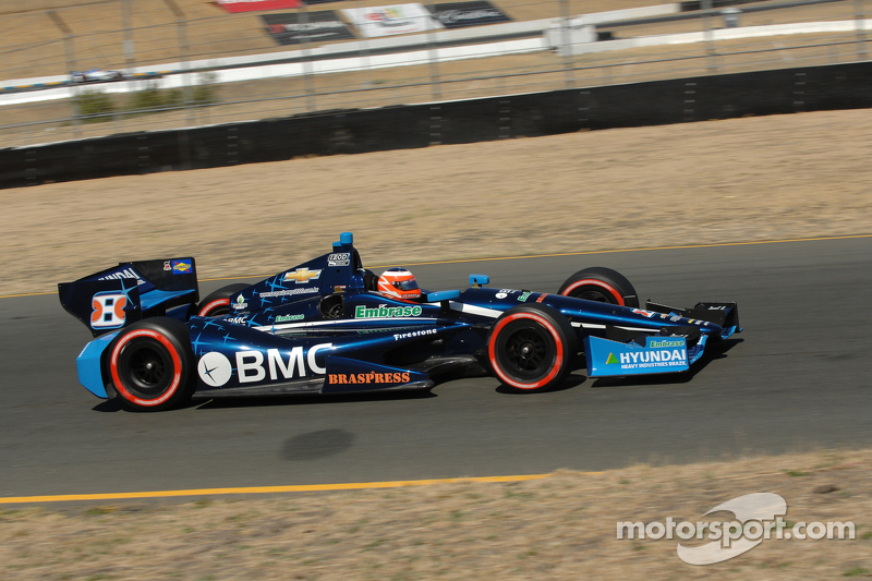 Barrichello top qualifier for KV Racing at Sonoma