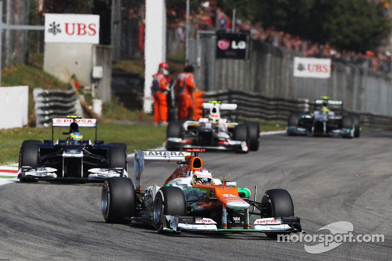 Sahara Force India picked up four points in the Italian GP