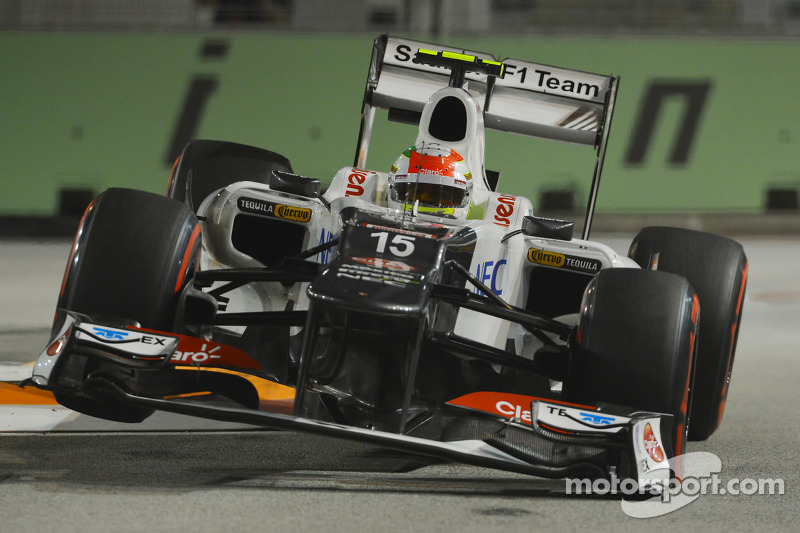 Pérez and Kobayashi finished the Singapore night race in 11th and 13th respectively